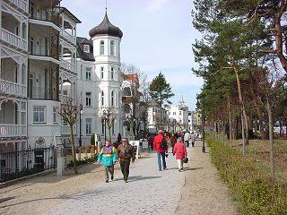 Ostseebad Binz/ Rügen: Strandpromenade